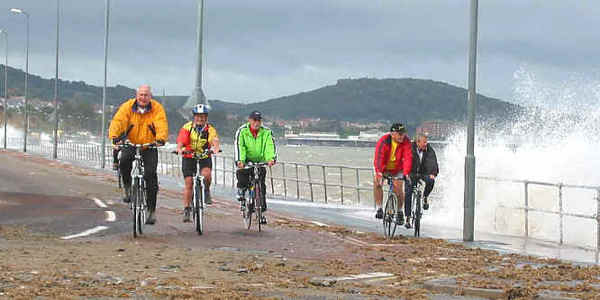Cyclists on the prom